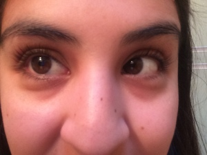Here is a close up of my lashes after they are curled.