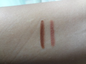 NYX Brown on the left, and UD Deep on the right